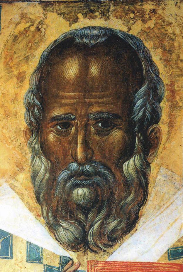 Икона из Базилики св. Николая в г. Бари (Италия). Изображение Николая Чудотворца при жизни