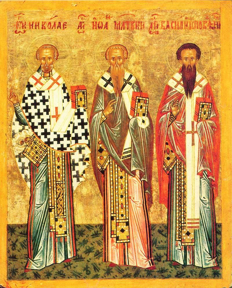 Николай Чудотворец, Иоанн Милостивый, Василий Исповедник