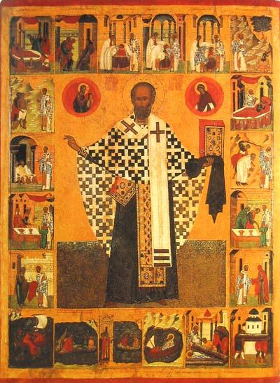 Никола Чудотворец, житийная икона с 20 клеймами