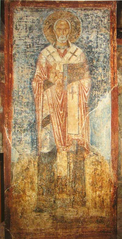 Фреска XI в. из Собора святой Софии, (Киев, Украина)