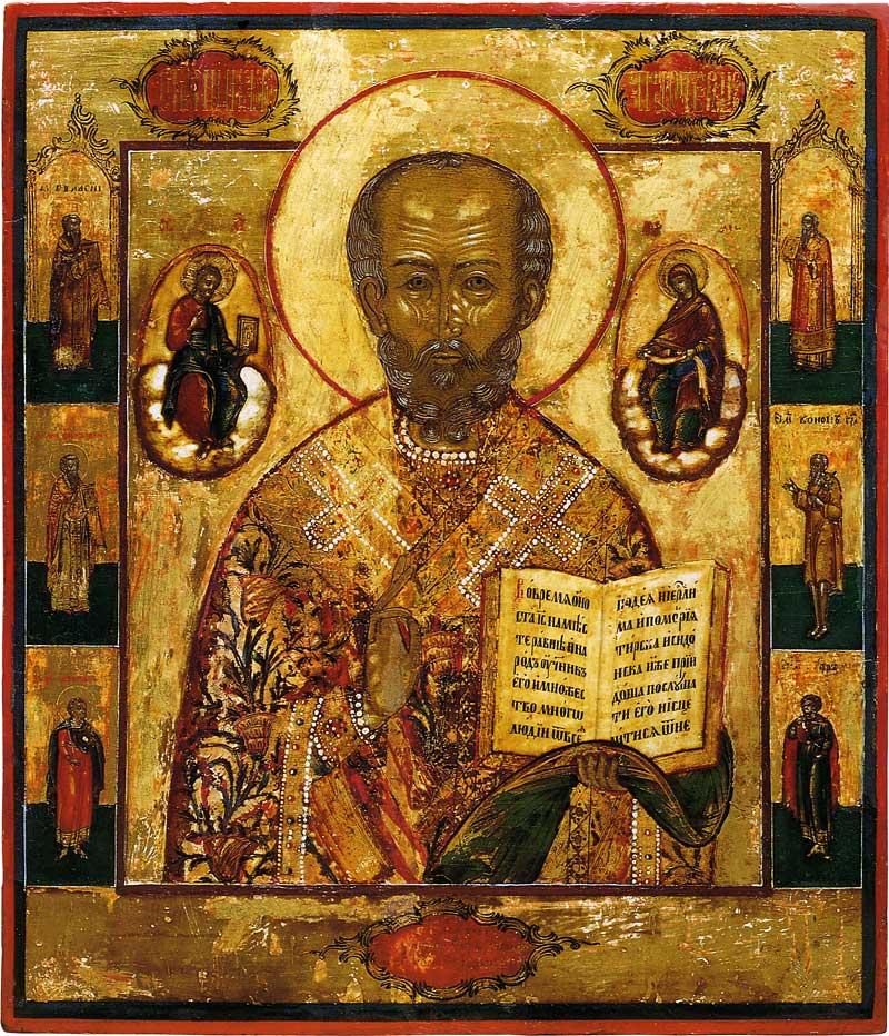 Николай Чудотворец, с избранными святыми